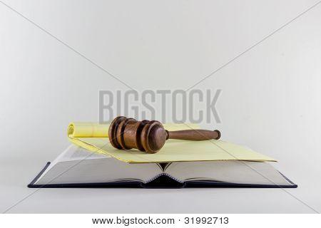 Gavel atop Legal Text