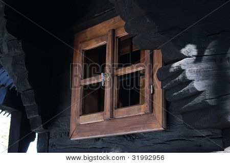 Old window on a cottage