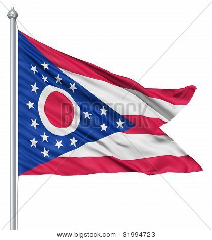 Waving Flag of USA state Ohio