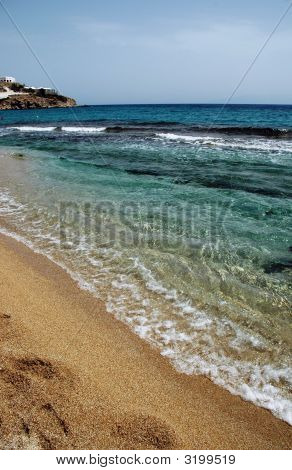 Scenic Beach On Greek Island