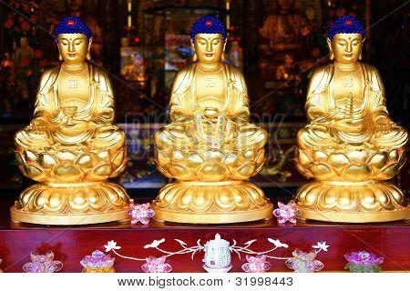 Chinese-style Buddha statue.