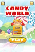 Game Ui Candy World Match 3 Set Game Buttons, And Elements Interface Game Design Resource Bar For Ga poster