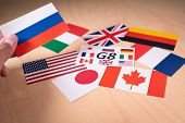 Flags Of The Great 7 Or G7 Countries. Summit Economic Political Concept poster