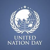 United Nation Day Letter Vector Background. United Nation Day Text Banner. Vector Illustration Eps.8 poster