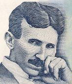 SERBIA - CIRCA 2006: Nikola Tesla on 100 Dinara 2006 Banknote from Serbia. Best known as the Father