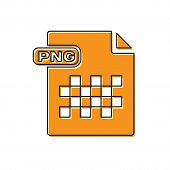 Orange Png File Document. Download Png Button Icon Isolated On White Background. Png File Symbol. Ve poster