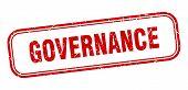 Governance Stamp. Governance Square Grunge Sign. Governance poster