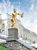 Statue Of Perseus, Petergof, Saint Petersburg, Russia poster