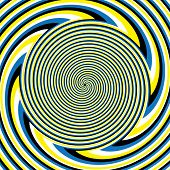 stock photo of hypnotizing  - A hypnotic spiral pattern is featured in an abstract background illustration of the illusory motion variety - JPG