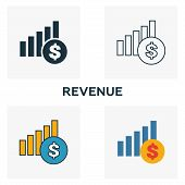 Revenue Outline Icon. Thin Line Element From Crowdfunding Icons Collection. Ui And Ux. Pixel Perfect poster