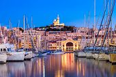 Notre Dame De La Garde Or Our Lady Of The Guard Is A Catholic Church In Marseille City In France poster
