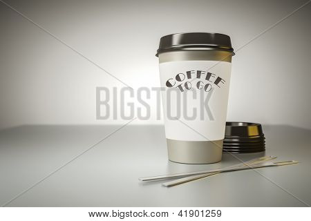 An image of a nice coffee to go background