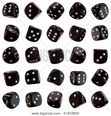 Black Dice Icons