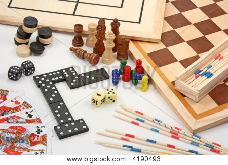 Board Games On White