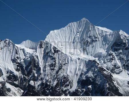 Majestic Mountain Peak In The Himalayas