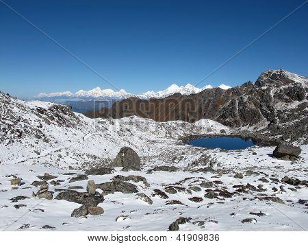 View From The Laurebina Mountain Pass, Nepal