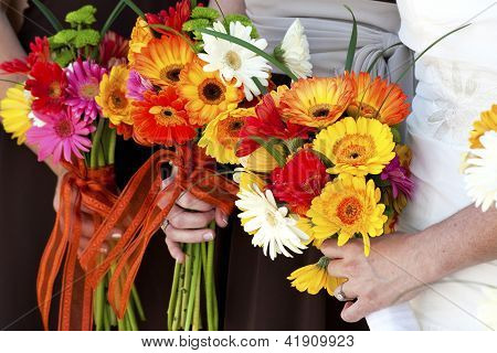 Holding Flower Bouquet