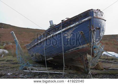 Rotten Boat In Scotland