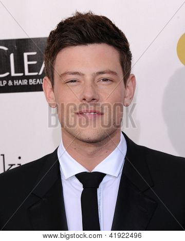 LOS ANGELES - JAN 10:  Cory Monteith arrives to the
