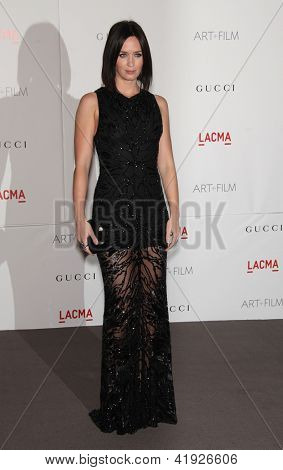LOS ANGELES - NOV 5:  EMILY BLUNT arriving to LACMA hosts Art + Film Gala 2011  on November 5, 2011 in Los Angeles, CA