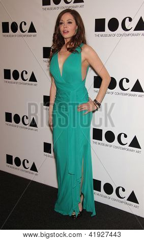 LOS ANGELES - NOV 12:  ROSE McGOWAN arriving to MOCA Annual Gala 2011  on November 12, 2011 in Los Angeles, CA