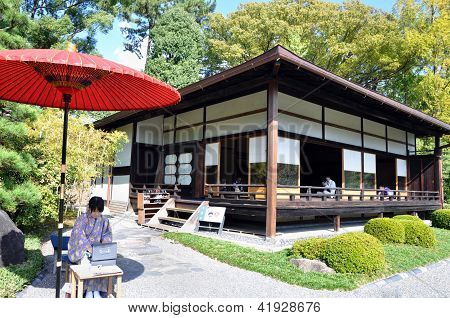 Kyoto- Oct 22: Tourist Visit And Drinking A Japanese Tea At Nijo Castle