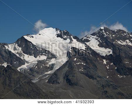 Mountains Fletschhorn And Weissmies