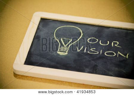 Chalk Design With Lightbulb, Business Vision