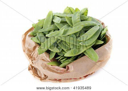 Snow Peas In Paper Bag