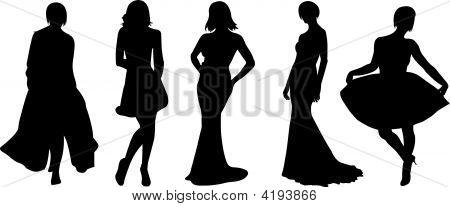 Vector de las mujeres de moda