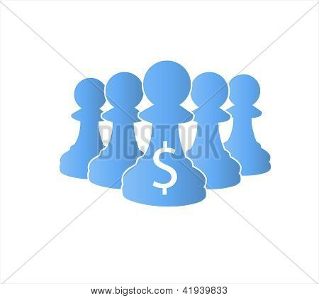 Blue Pawns Team Protect Money