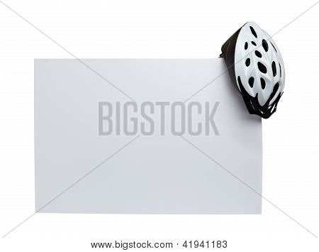Cycling Helmet Protective Wear And Note Paper