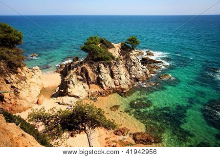 Typical Costa Brava Landscape