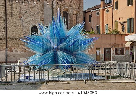 Murano island glass sculpture, Italy.
