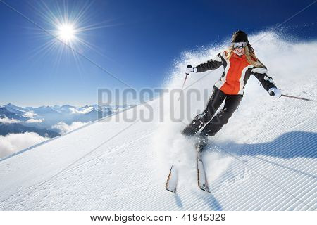 Girl / Woman / Female On the Ski