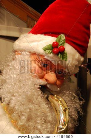 Santa With A Saxophone