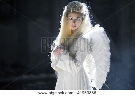 Cute Blondie As An Angel
