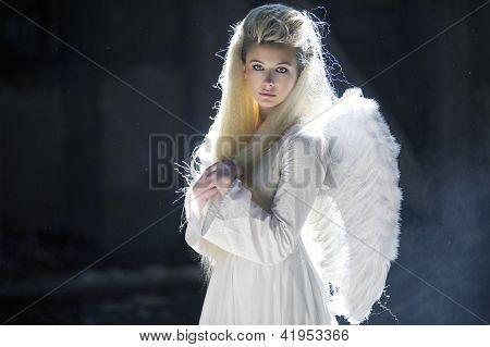 Cute Blondie As An Angel