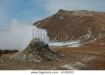 Volcanic Cones. Iceland