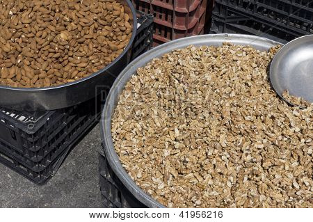 Big Pan Full Of Nuts