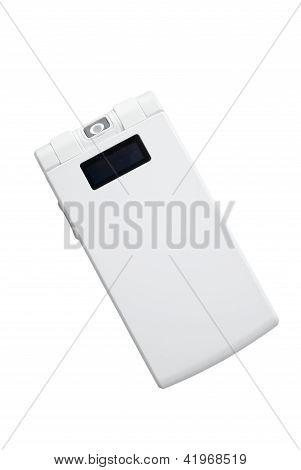 Branco telefone de dobramento