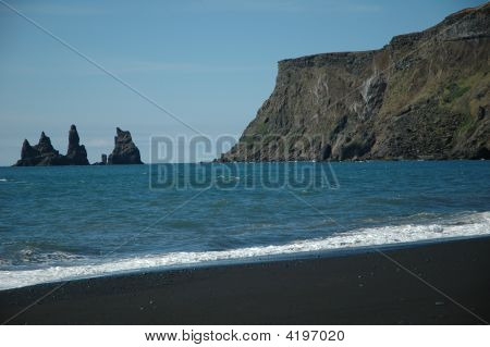 Vik - The Beach And Its Trolls South Coast Of Iceland