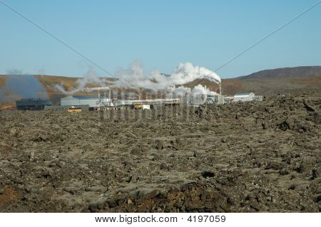 Iceland. Geothermal Power Station.