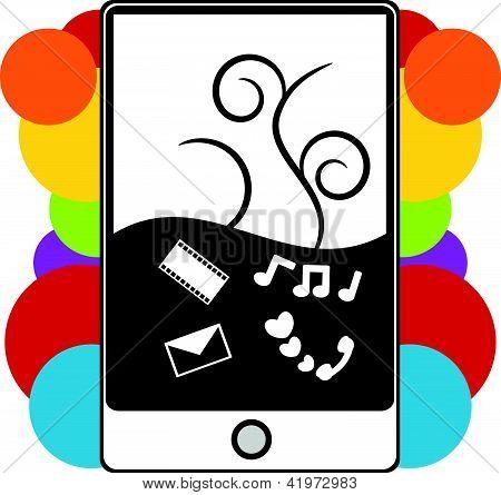 Pda Phone Illustration