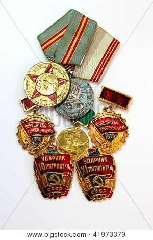Soviet medals for valorous work