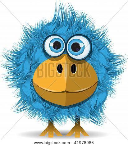 Divertido pájaro azul