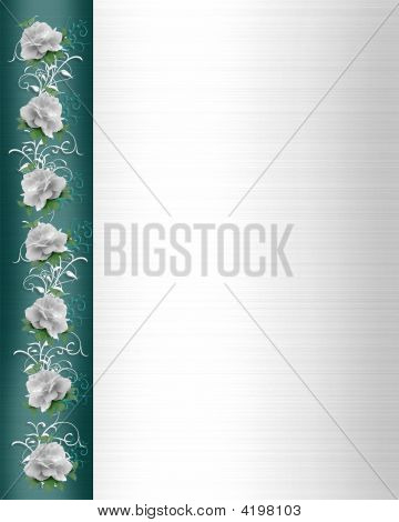 Wedding Border White Roses