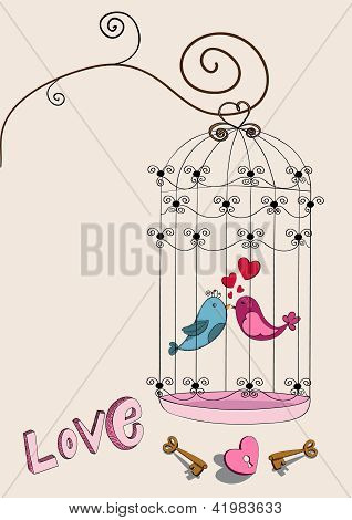 Valentine Couple Bird Love
