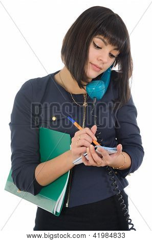 Girl, Writing Notes