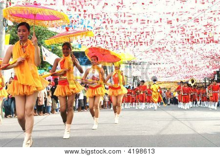 Young Majorette With Umbrella